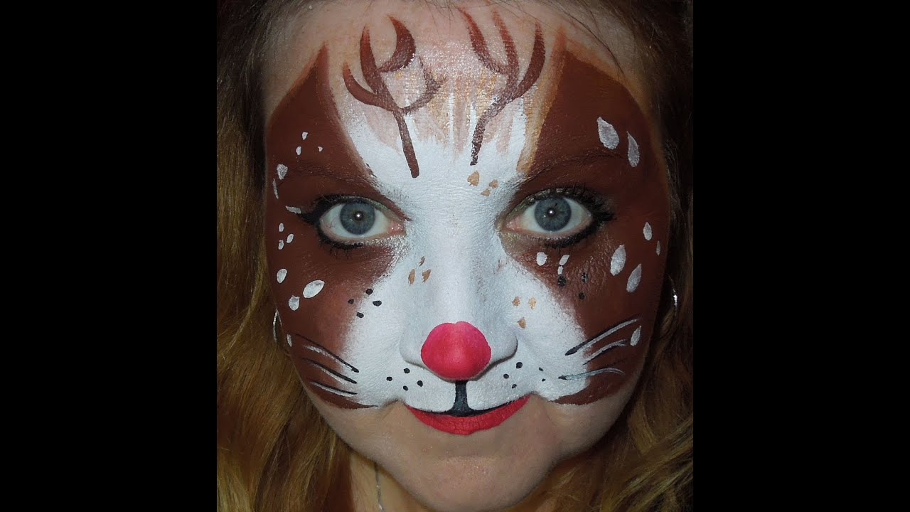 Christmas Rudolph the Red Nosed Reindeer Face Painting | Chicago Face ...