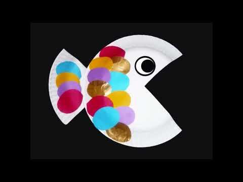 Cómo hacer un pez con un papel de plato
