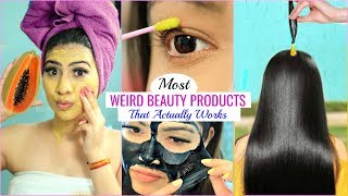 Most WEIRD BEAUTY Products That Actually WORKS .. | #Haircare #Skincare #Anaysa