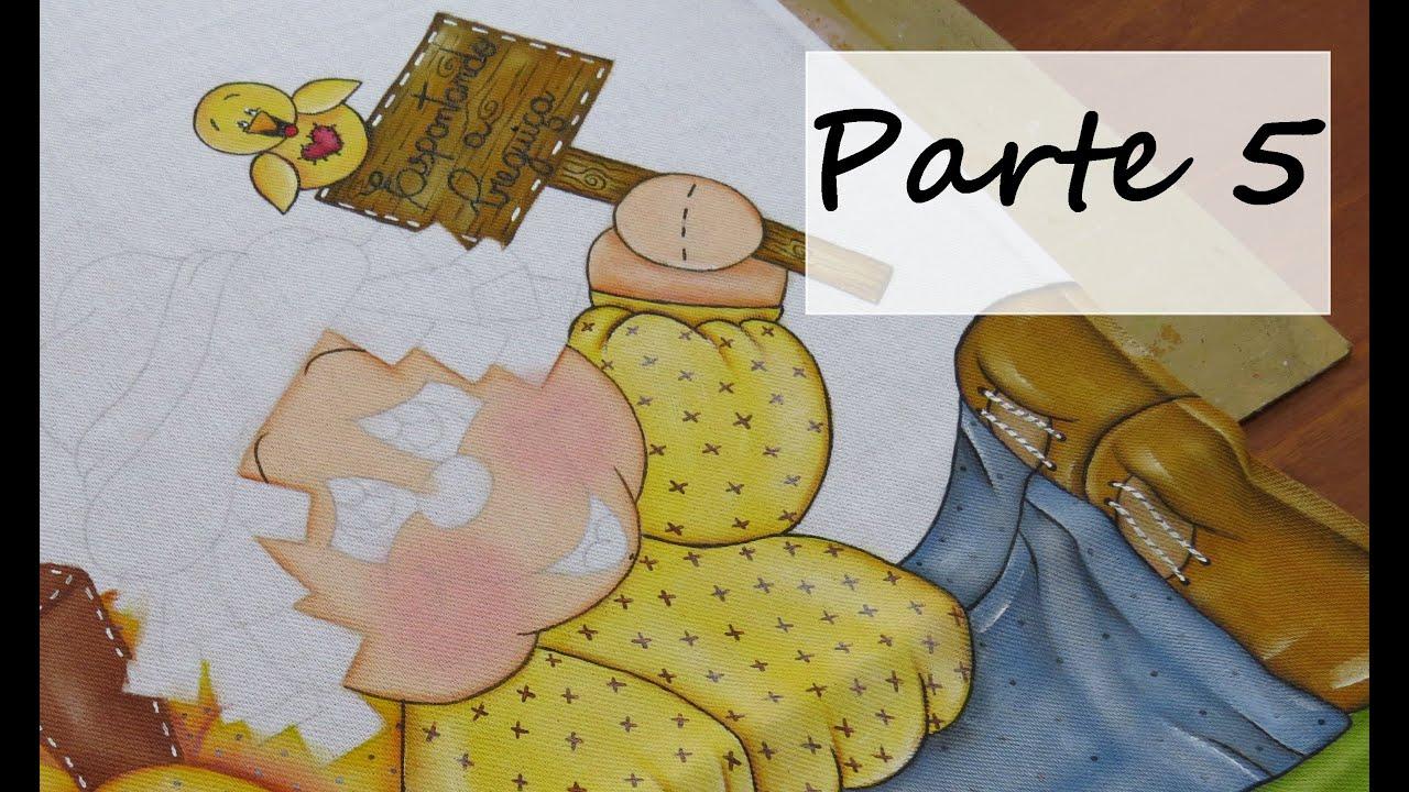 Espantalho Parte 5 Como pintar uma plaquinha de madeira?   #6C411D 2888x1720