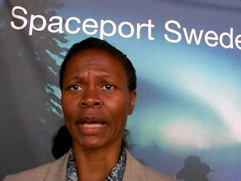 Spaceport Sweden at ISPCS 2009 speaking to Yvonne Cagle