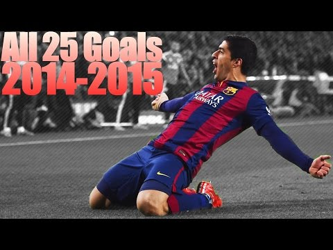 Luis Suarez ● All 25 Goals 2014-15 ● English Commentary
