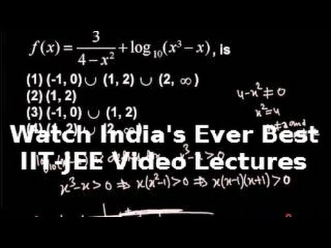 Iit Jee Main Maths Function Domain And Range Concepts video