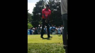 Tiger Woods - Getting Ready to Tee Off at the 18th