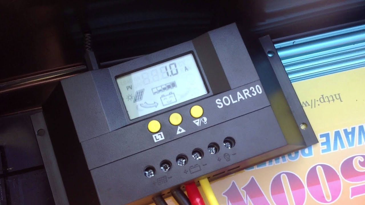 Solar30 Charge Controller Pwm Youtube
