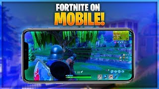 FORTNITE COMING TO MOBILE! HOW TO PLAY EARLY! (Fortnite Battle Royale)