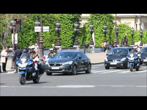 French president official convoy. (François Hollande)