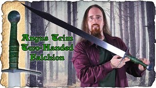 Two Handed Falchion by Angus Trim - Odd Grip, Great Blade!