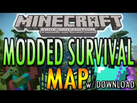 Minecraft (Xbox 360) Modded Survival Map, Spawners, X Enchantments + more w/ Download!