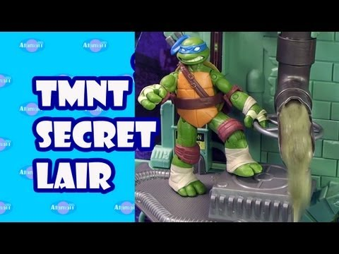 TMNT Secret Sewer Lair Playset Toy Review Unboxing