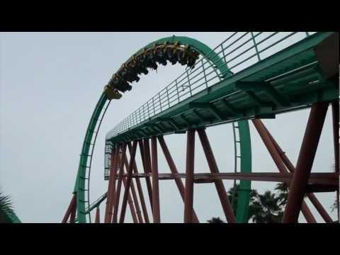 Kumba Roller Coaster POV Front Seat Amazing 1080p HD Footage Busch Gardens Tampa FL