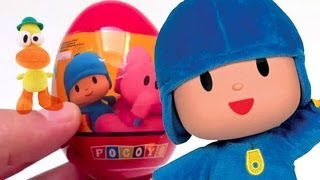 Pocoyo Kinder Surprise Egg unboxing toy surprise puzzle - kidstvsongs