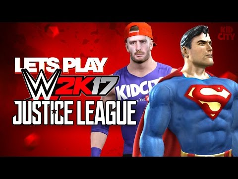 WWE 2k17 Justice League Super Heroes Battle Royal ft. Team KIDCITY!