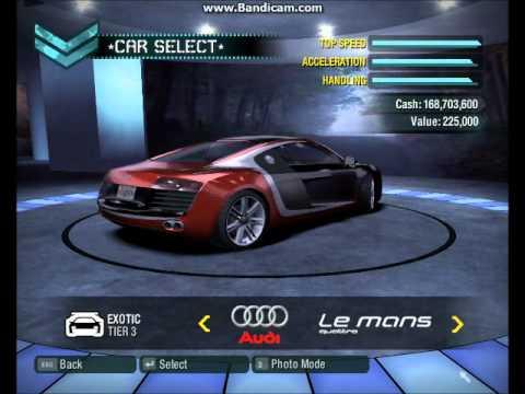 Nfs Carbon Bonus Cars In Career Mode Youtube