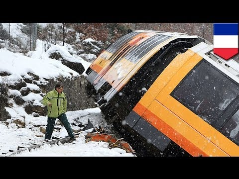 Train crash: falling boulder hits train in French Alps, two dead