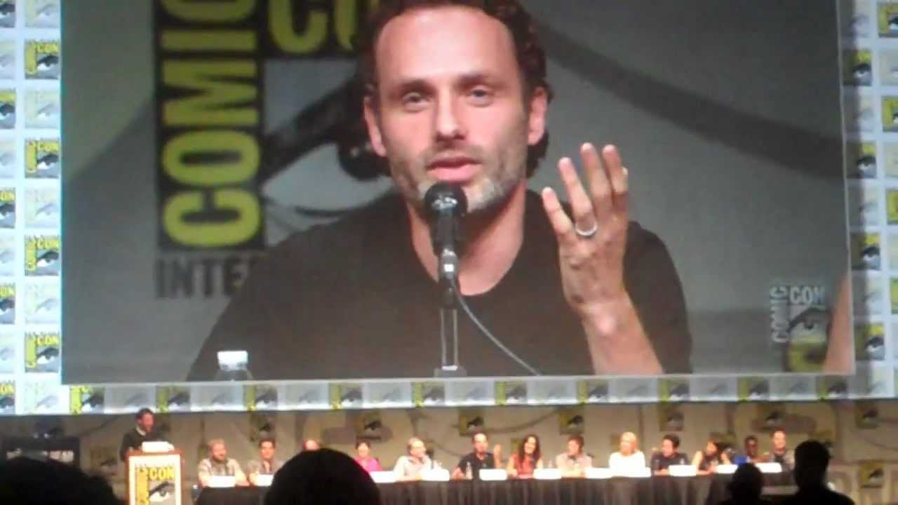 Andrew Lincoln On His American Accent Comic Con 2012
