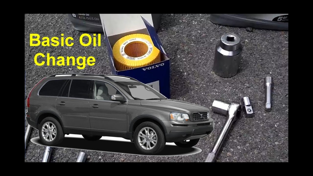Volvo XC90 Basic Oil Change - Auto Repair Series - YouTube