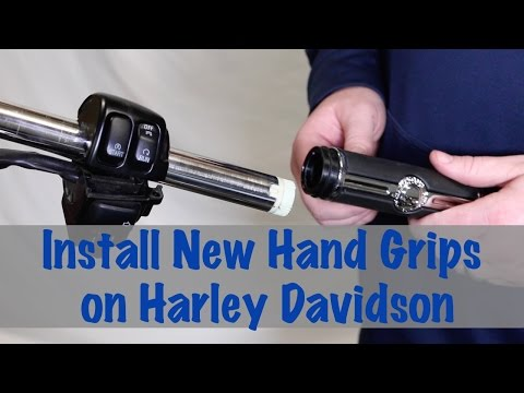 Install New Hand Grips on Harley Davidson | Motorcycle Biker Podcast