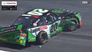 NASCAR Xfinity Series 2018. Bristol Motor Speedway. Christopher Bell Hard Crash