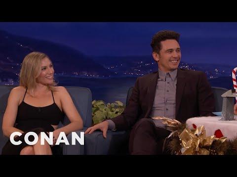 "James Franco & Ari Graynor On The Insane Sex Scenes In ""The Room""  - CONAN on TBS thumbnail"