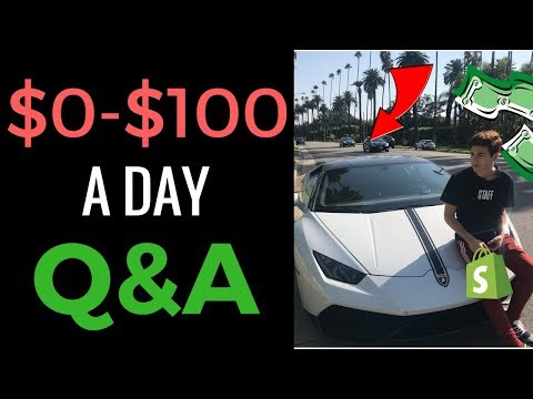 STEP BY STEP $100+ A DAY Q&A (DROPSHIPPING FOR SHOPIFY BEGINNERS 2017)