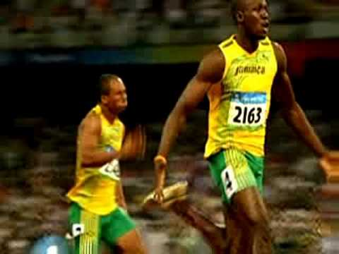 Usain Bolt sets world Record in Men\'s 100m Final (9.69 sec) Video