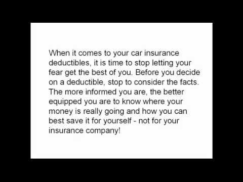 Change Your Deductibles to Save on Car Insurance