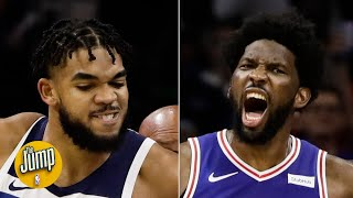 Joel Embiid and Karl-Anthony Towns fought on the court, then on social media | The Jump