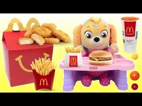 SKYE From PAW PATROL Eats a McDonald's Happy Meal | Toys Unlimited