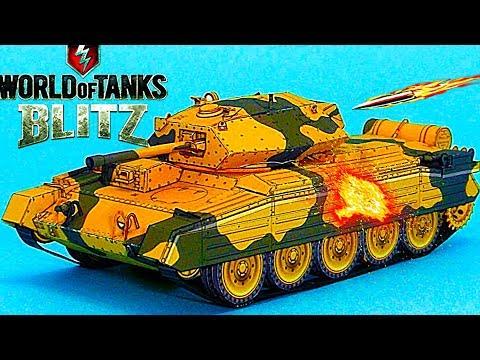 WoT Blitz обзор Crusader средний британский танк новичкам британская ветка World of Tanks Blitz#66