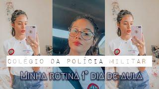PRIMEIRO DIA DE AULA- COLÉGIO DA POLÍCIA MILITAR
