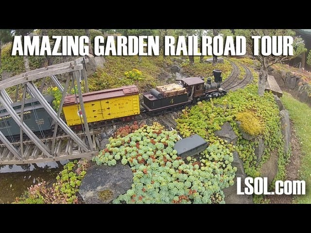 Garden Trains: Garden Railway Tour: Gary and Jonette Lee - Baker and Grande Ronde RR