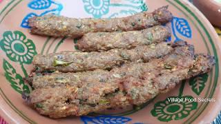 Homemade Seekh kabab in Tandoor Oven   Mutton Seekh Kebab   Village Food Secrets