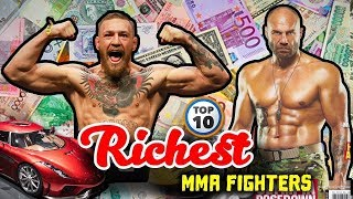 TOP 10 RICHEST UFC FIGHTERS 2018 - Richest MMA Fighters (McGregor Number 1?)