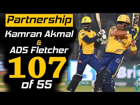 Kamran Akmal & Fletcher Best Partnership in PSL 3 | Peshawar Zalmi Vs Karachi Kings | HBL PSL 2018 thumbnail