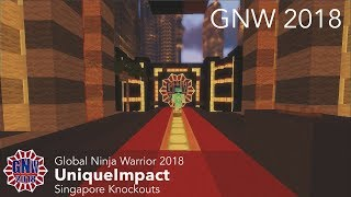 UniqueImpact at the Singapore Knockouts Course - Global Ninja Warrior 2018