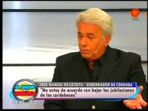 José Manuel de la Sota   Show de la Mañana pt1 17072012
