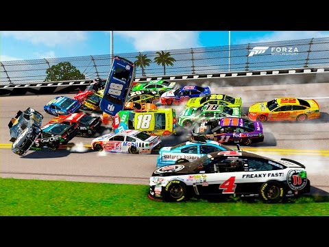 EVERYONE WRECKED! [Biggest Crash I've Ever Seen!] | Forza Motorsport 6 | NASCAR Expansion