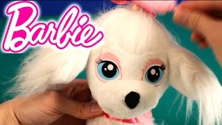 NEW BARBIE TOY | Barbie Pampered Pups Salon | HOW TO CHANGE HAIR, NAIL and EYESHADOW COLOR