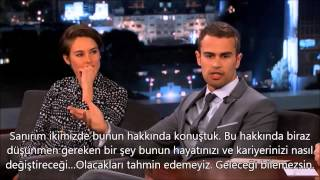 Shailene Woodley & Theo James on Live TR Altyazılı