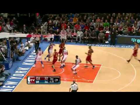 Carmelo Anthony to the Rack - Knicks vs. Cavs || 3.31.12