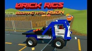 Lego Bulldozer, Cars & Trucks vs. Lego Train - Brick Rigs Gameplay