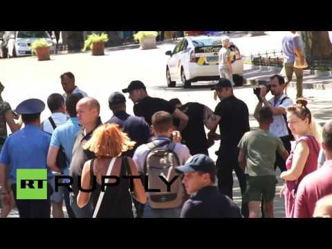 Ukraine: Protesters pelt Savchenko with EGGS during speech in Odessa