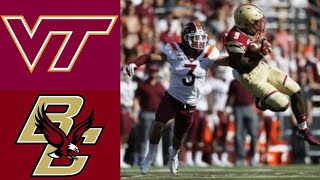 Virginia Tech vs Boston College Highlights | NCAAF Week 1 | College Football Highlights