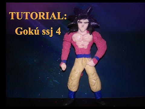 tutorial:como hacer a goku ssj4 de plastilina