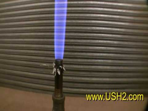 Watch Stove, Cooking, Light, Power from Gasification of Hydrogen Based Fuel