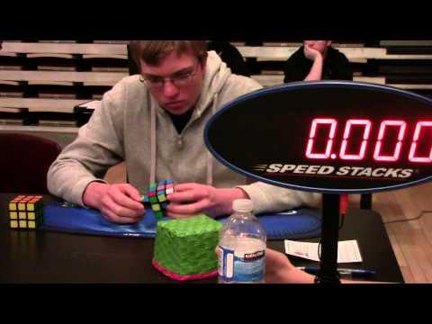 10.87 Rubik's Cube One-Handed World Record Average