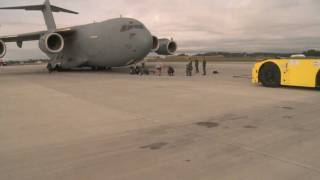 World's Strongest Man Pulls a C-17 Cargo Plane