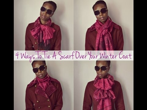 4 Ways To Tie A Scarf Over Your Winter Coat