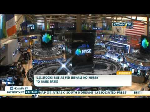 U.S. stocks rise as fed signals no hurry to raise rates - Kazakh TV